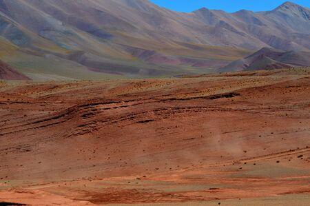 Beautiful mountains way to Tolar Grande, Salta, Argentina 写真素材
