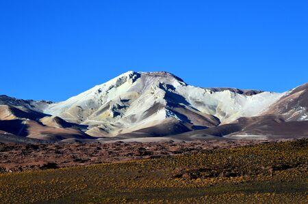 Estrella (star) mountain, of pure sulfur, Andes mountain range, Salta, Argentina 写真素材