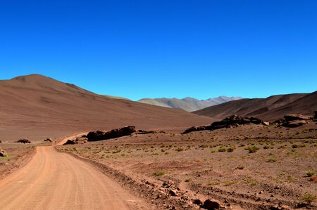 Way to Tolar Grande, Salta, Argentina 写真素材