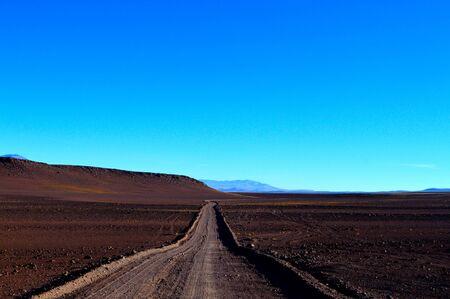 Mountain road parallel to the Andes mountain range, Salta, Argentina