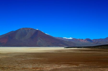 Llullaillaco salt flat in Salta province, Argentina 写真素材