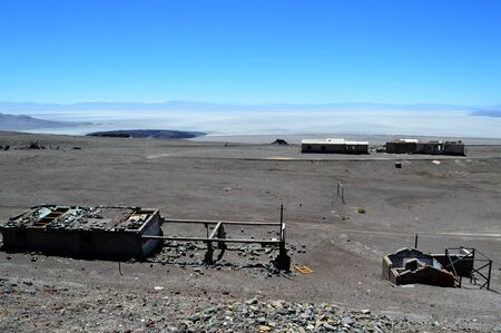 Caipe train station and the Arizaro salt flat in Salta, Argentina