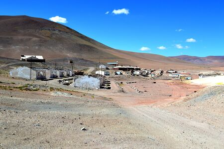 Panoramic view of the abandoned La Casualidad mine settlement. Salta, Argentina