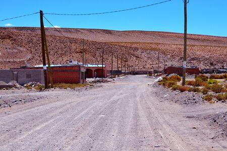 Small town of Santa Rosa de los Pastos Grandes, Salta, Argentina