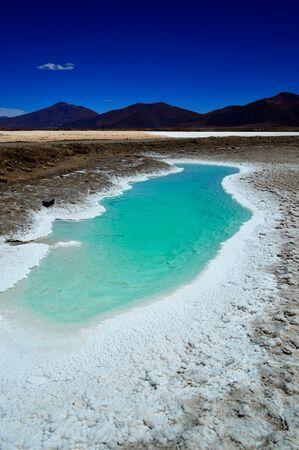 Sea eye in the Pocitos salt flat, Salta, Argentina
