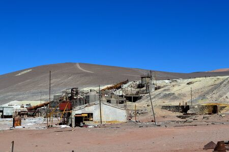 Industrial plant where the sulfur was processed before being transferred to the Caipe train station. Salta, Argentina