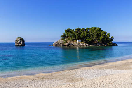 Early morning in Parga, Greece Stock Photo