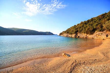 Spring view at beach near Parga, Greece