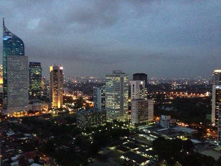 view: Jakarta city night scenery