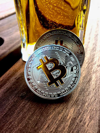 Digital currency physical silver bitcoin coin
