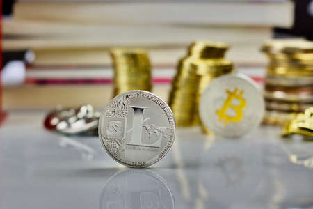 Cryptocurrency physical silver litecoin coin