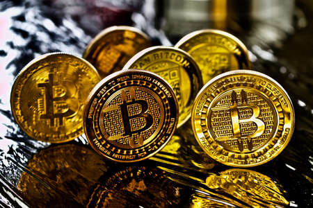 Cryptocurrency physical gold bitcoin coins