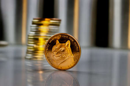 Digital currency physical brass dogecoin coin