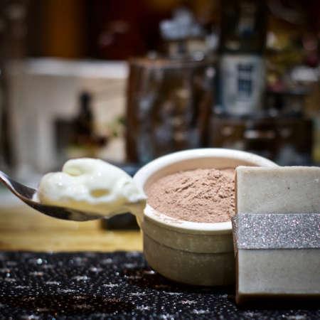Homemade handmade natural soap. Creative soap concept. Eco. Zdjęcie Seryjne