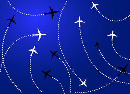 divert: Airplanes blue