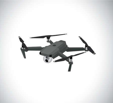 The drone illustration Stock Illustratie