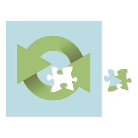 recycling logo: recycling logo puzzle