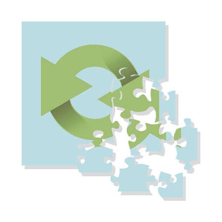 logo recyclage: recyclage logo casse-t�te