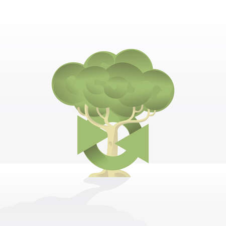 logo recyclage: arbre logo de recyclage