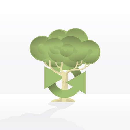 recycling logo: tree recycling logo