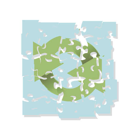 echo: recycling logo puzzle