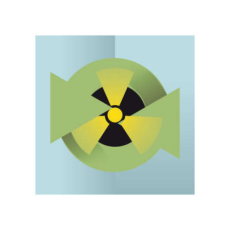 recycling logo: recycling logo and nuclear fusion Illustration