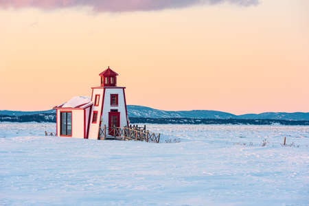 The liter lighthouse in Saint-Andre-de-Kamouraska, Quebec, Canada Editorial
