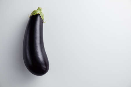 Eggplant on a white background. Minimum concept