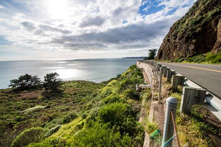 Highway One along the Northern California Coast Фото со стока