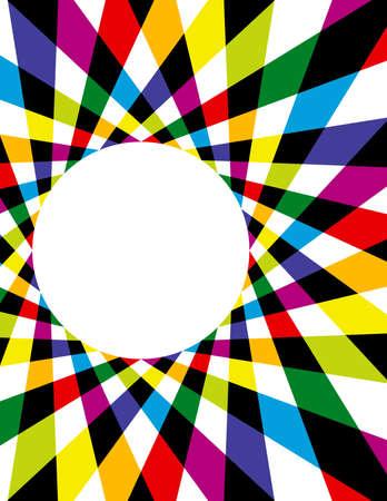色鮮やかなレインボー スパイロ グラフ背景  イラスト・ベクター素材