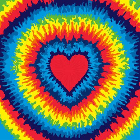 Heart, Love, Rainbow Tie Dye