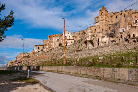 Craco, the ghost town near Matera, the city of stones. Craco famous in the world for being used in films and advertising.