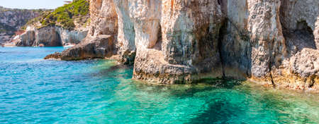 Zakynthos Island, Greece. A pearl of the Mediterranean with beaches and coasts suitable for unforgettable sea holidays. caves of Keri