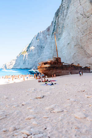 Zakynthos Island, Greece. A pearl of the Mediterranean with beaches and coasts suitable for unforgettable sea holidays. Wreck Beach Editöryel