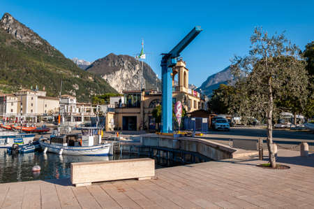 Anfo on Lake Idro, a beautiful town with a tourist and fishing port, a tourist destination for holidays by the lake, at the foot of the Alps immersed in unspoilt nature.