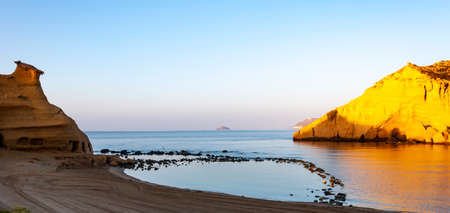 Aguilas, protected marine park of the four coves, on the Mediterranean sea of Murcia, a tourist destination in Spain: