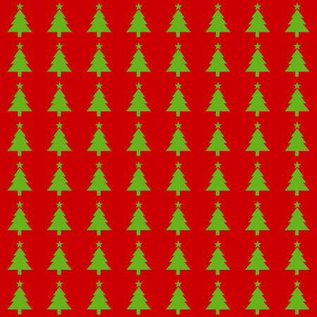 Illustration with Christmas-themed symbols, with repetitive geometric shapes covering the background. Design with Christmas pattern that can be used as a web pattern, wallpaper, digital graphics, packaging, objects, gifts and artistic decorations. Stock Photo