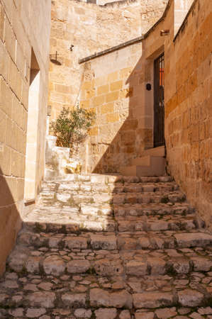 Matera, a city built on the famous stones, carved rocks to obtain houses, living from antiquity