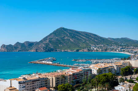 Altea, a town on the Mediterranean coast of the Costa Blanca. A tourist destination in Spain just a few kilometers from Benidorm, with a fantastic marine climate all year round. Stock Photo