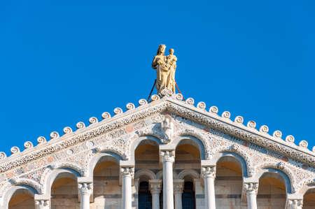 The dome of the Cathedral dedicated to Santa Maria Assunta, nella piazza dei miracoli a Pisa. Sito di fama mondiale UNESCO, situato nella splendida Toscana. Archivio Fotografico