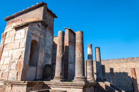 Pompeii, the best preserved archaeological site in the world, Italy. Temple of Iside.