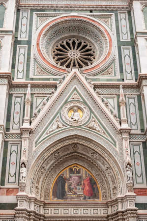 Florence, a UNESCO heritage site and home of the Italian Renaissance, rich in monuments and cities of the Medici dynasty: view of the Cathedral of Saint Mary of the flower Stockfoto