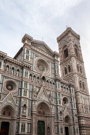 Florence, a UNESCO heritage site and home of the Italian Renaissance, rich in monuments and cities of the Medici dynasty: view of the Cathedral of Saint Mary of the flower Stock Photo