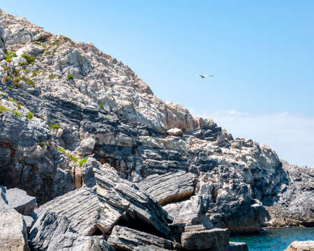 Portovenere, Italy. Beautiful seaside village with the famous gulf of poets that inspired the poems of Byron, a popular tourist destination for beach holidays and tracking in unspoiled nature. Gulf of poets.