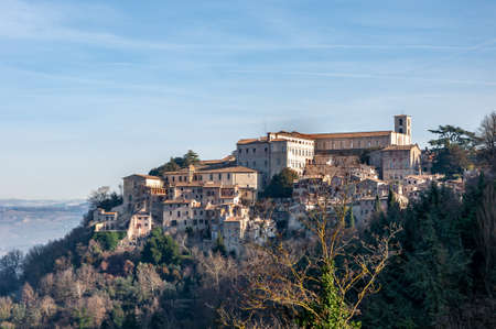 Todi in Umbria, Italy. Rich in medieval buildings such as the Palazzo del Popolo and the Palazzo del Capitano. It rises on the hills since the Etruscan times and overlooks the valley of the Tiber river.