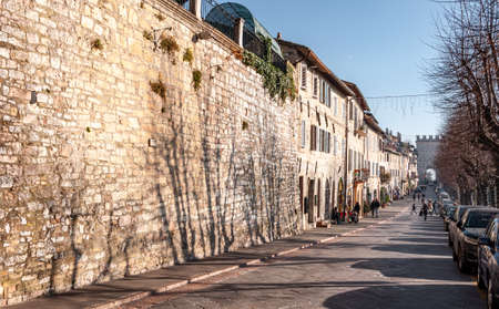 Assisi, the city of peace, Italy. View of via
