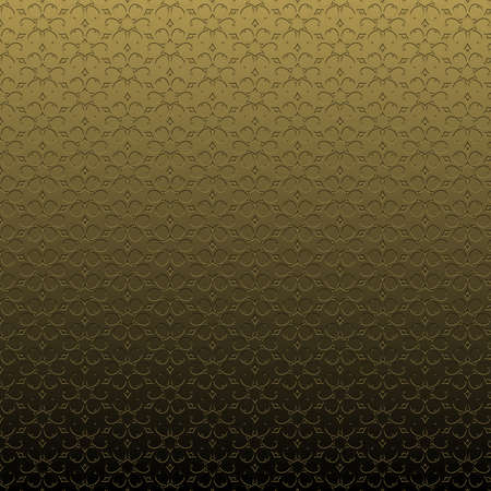 Gold pattern illustration, bas-relief effect with repeated geometric shapes covering the background. Design for motifs, web, wallpaper, digital graphics and artistic decorations. Standard-Bild