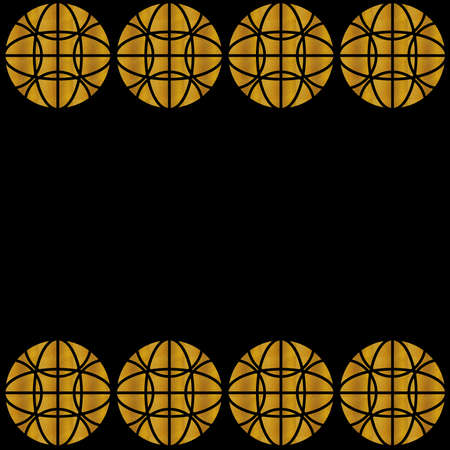 Gold Art Decò pattern on a black background, with linear geometric style. Template for web pages, wallpaper, printing, digital, packaging, objects, banners, invitation, business card, decorations.