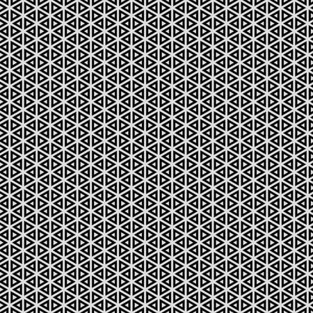 Illustration Black and white with repeated geometric shapes covering the background. Editable and colorable pattern for motifs, web, wallpaper, digital graphics and artistic decorations. Standard-Bild