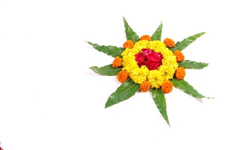 marigold flower Rangoli